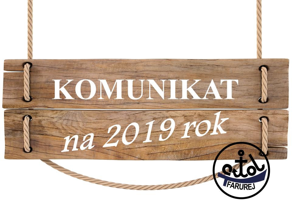 Komunikat na 2019 rok