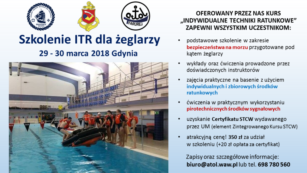Szkolenie ITR dla zeglarzy - 29-30 marca 2018